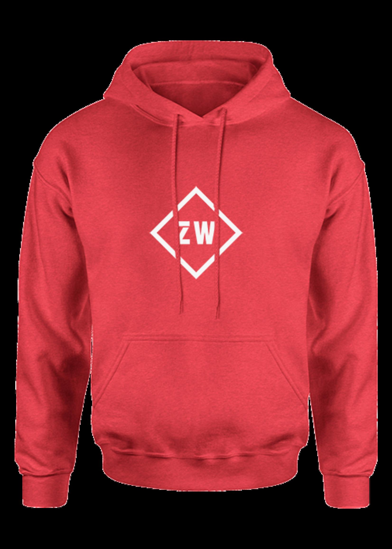 Rebel & Dutch ZwartWit hoodie  rood wit