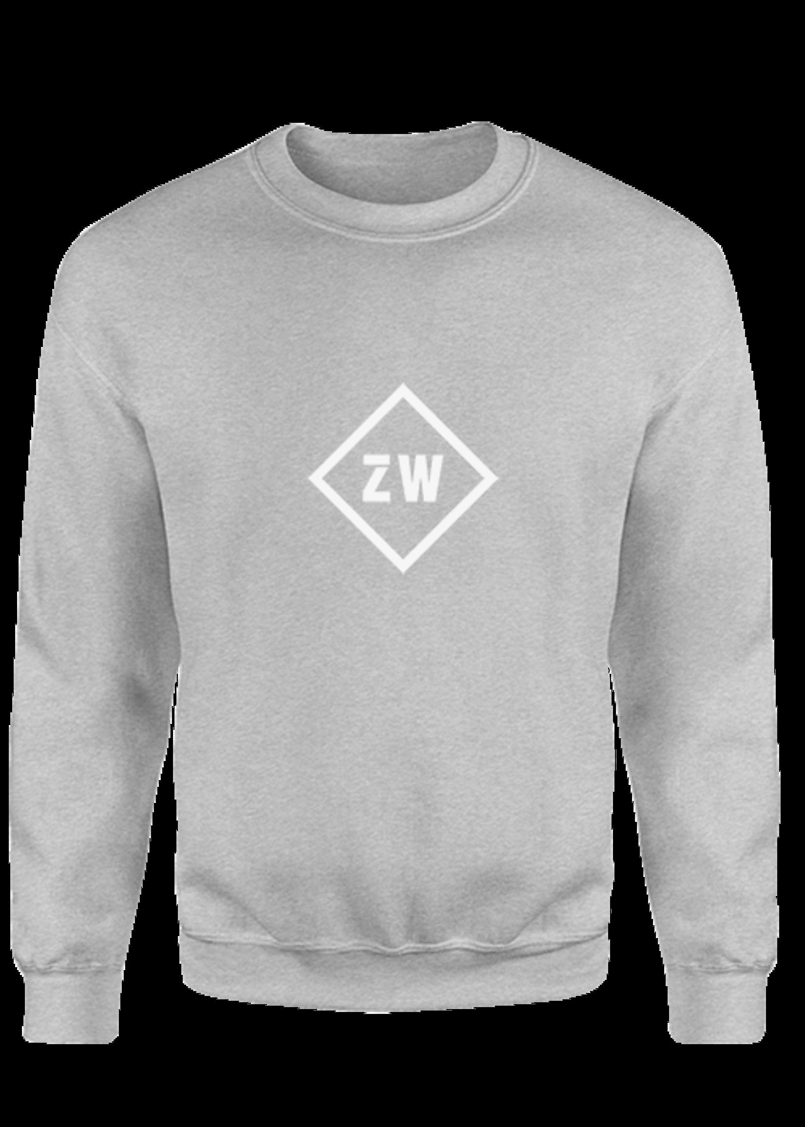 Rebel & Dutch ZwartWit sweater grijs wit