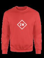 Rebel & Dutch ZwartWit sweater red white