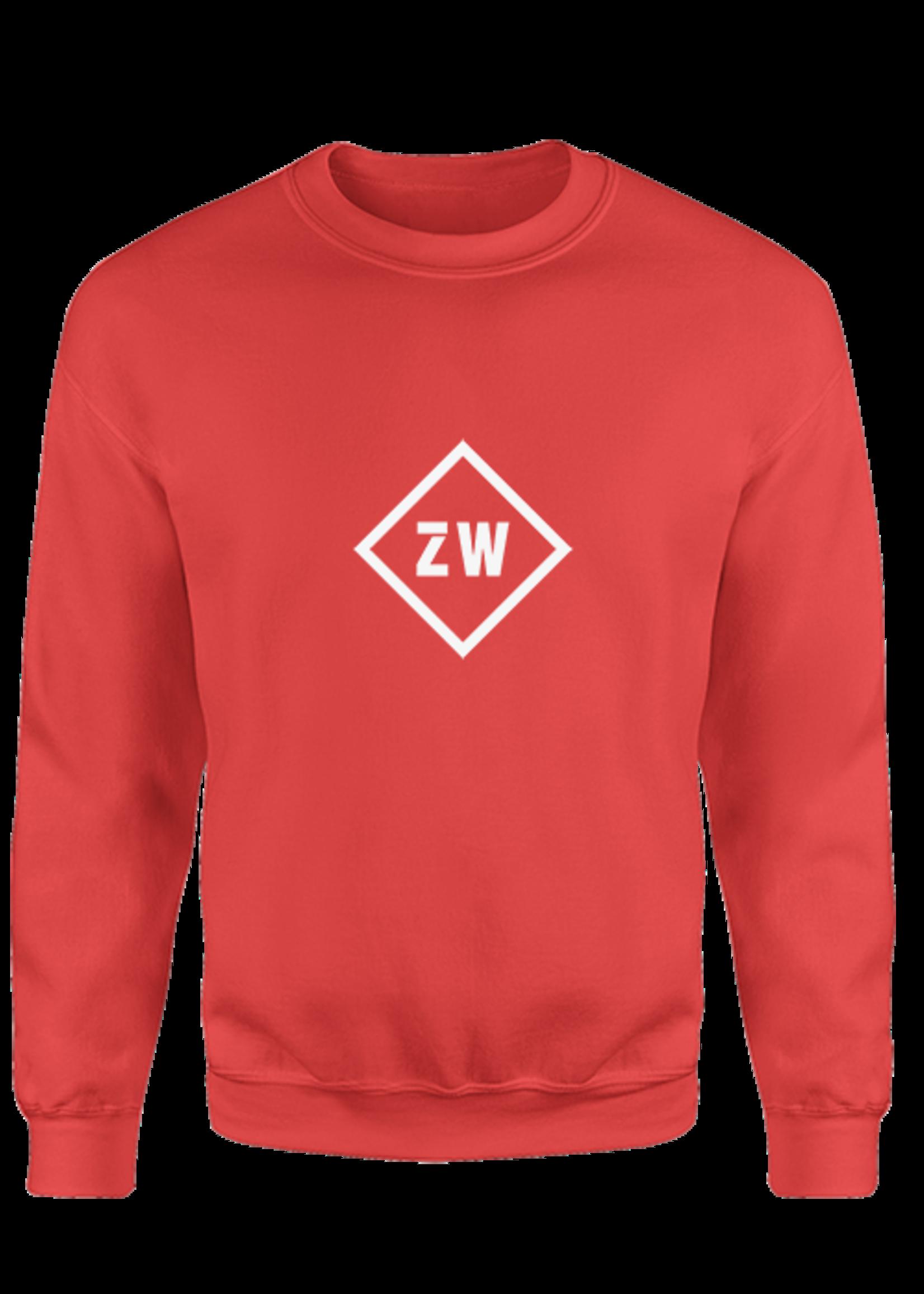 Rebel & Dutch ZwartWit sweater rood wit