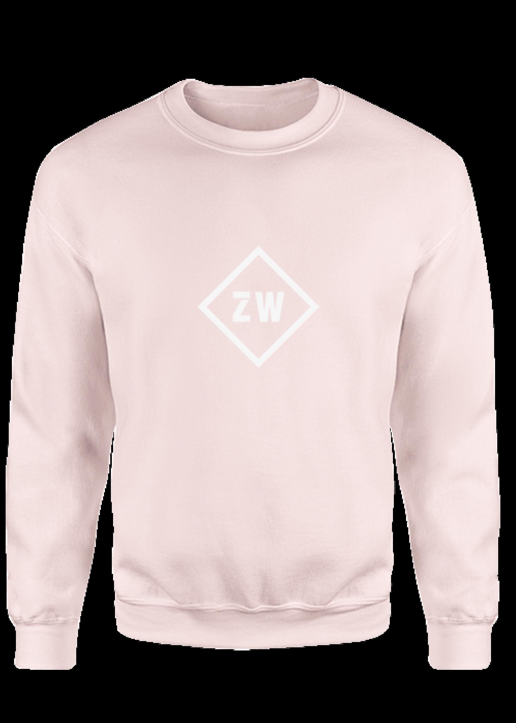Rebel & Dutch ZwartWit sweater pink white