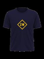 Rebel & Dutch ZwartWit T-shirt blue yellow