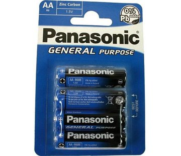 4x AA Panasonic batterijen