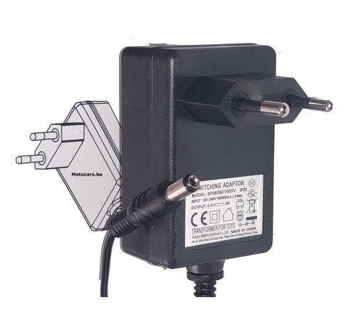 6V oplader voor elektrische kinderauto\s / accuvoertuigen