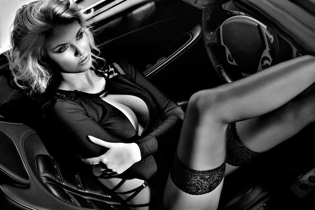 Sexy car drive