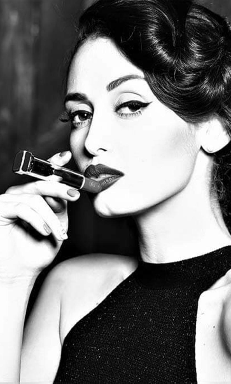 Lipstick woman