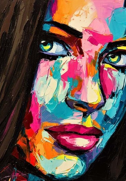 Woman painted