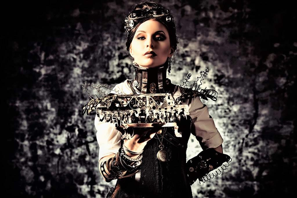 Steam punk woman-1
