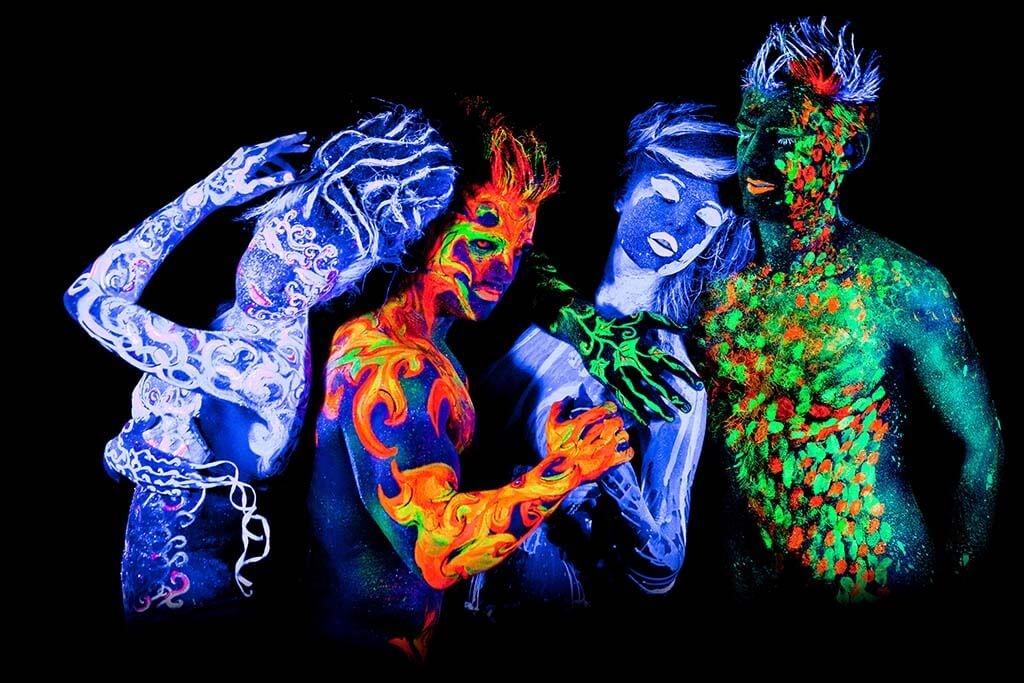 Neon people
