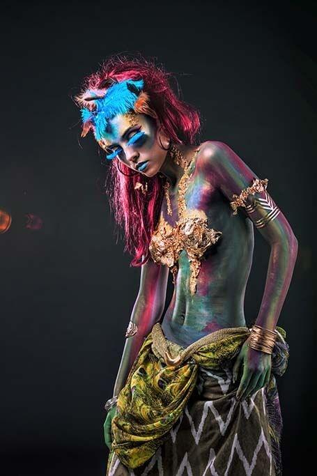 Color paint woman-1