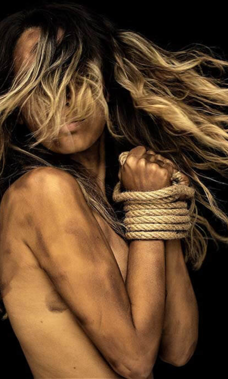 Tied Up Woman