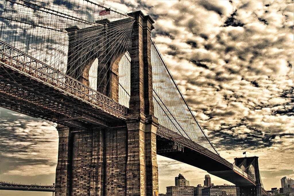 Underneath Brooklyn Bridge