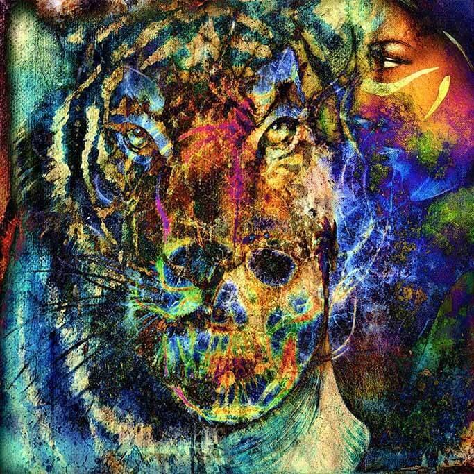 Le tigre des médias mixtes-1