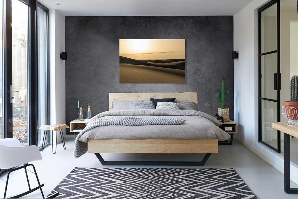 Desert with sand dunes-3