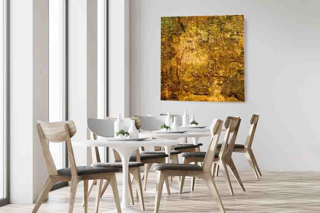 Abstract painting gold-4