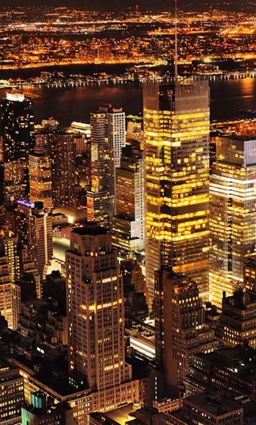 New York view by night