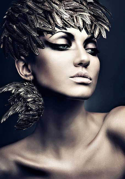 Silver feather woman