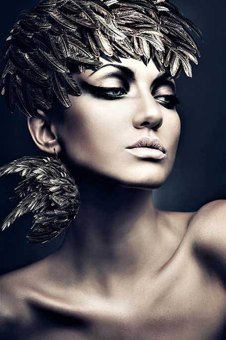 Silver feather woman-1