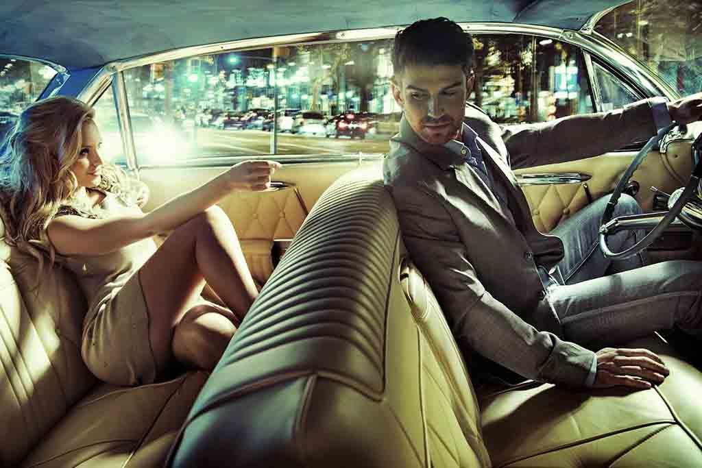 Love couple in car-8