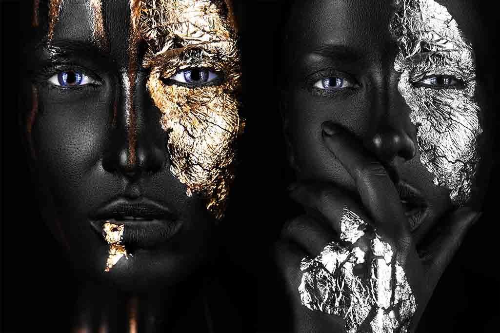 Gold en silver paint