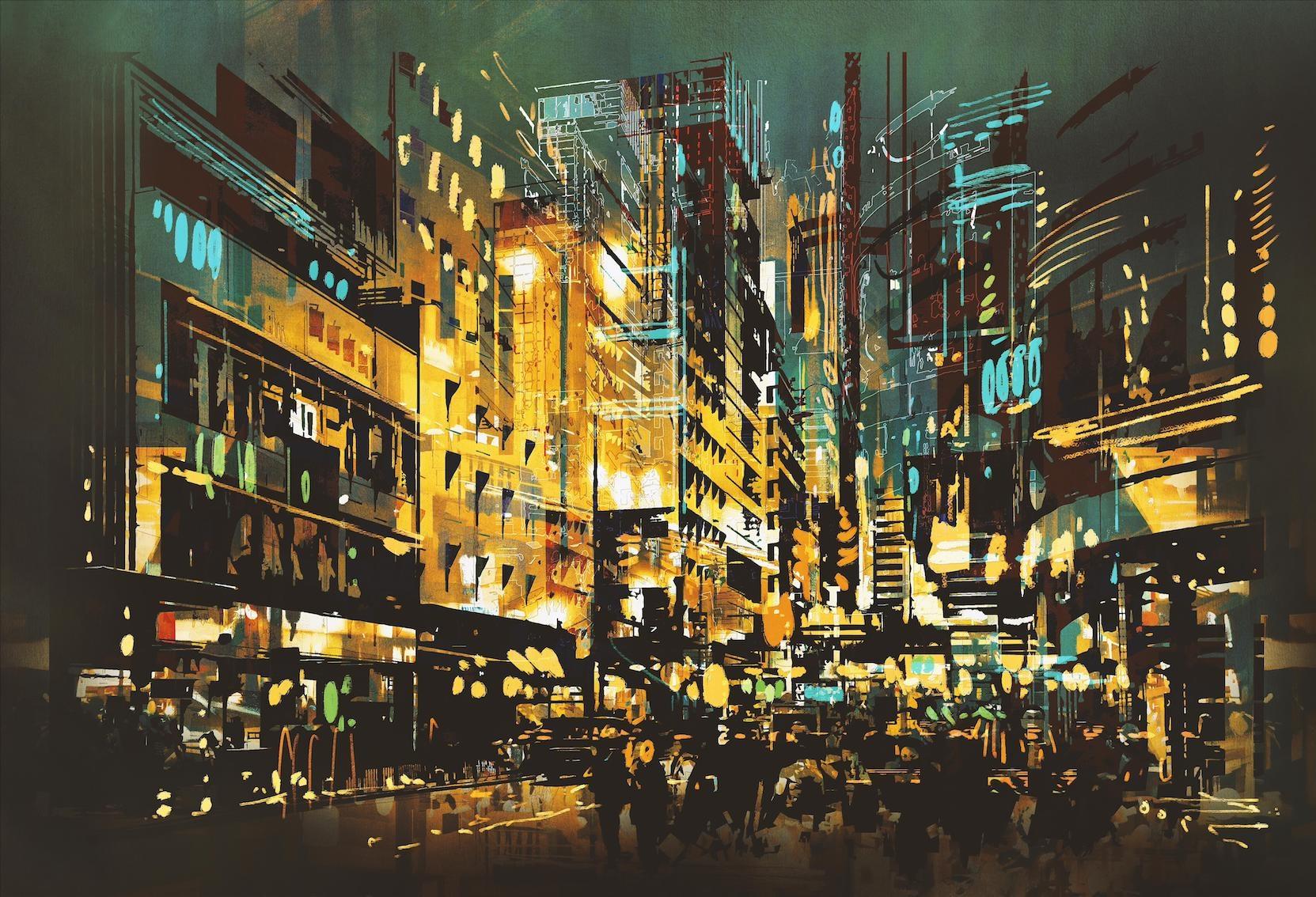 Night Scene Cityscape-1