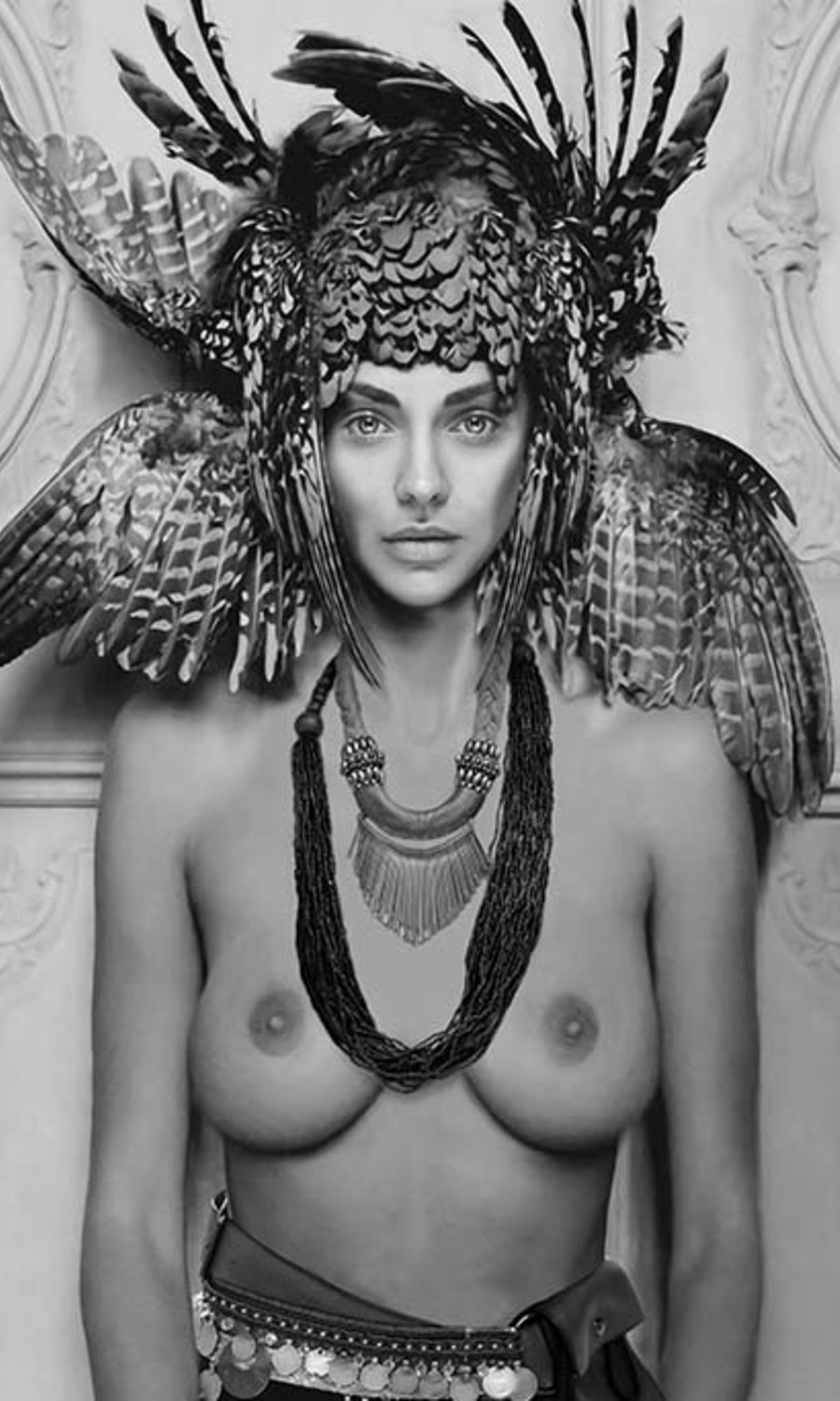 Sensual Feather Woman