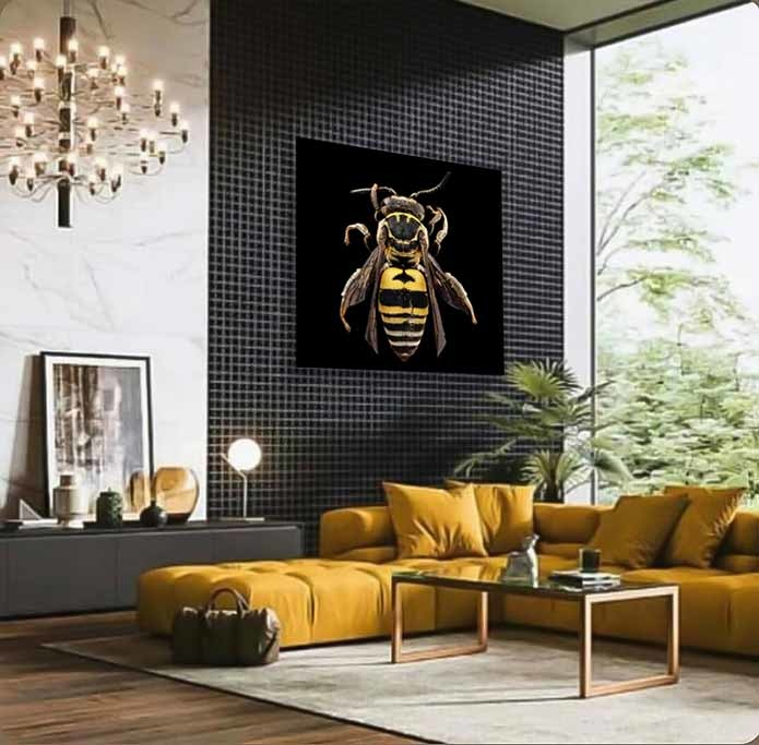 Black and Yellow Bee-4