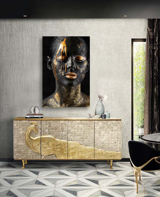 Black and gold face-2