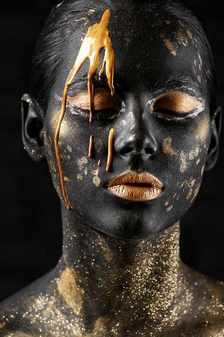 Black and gold face-1