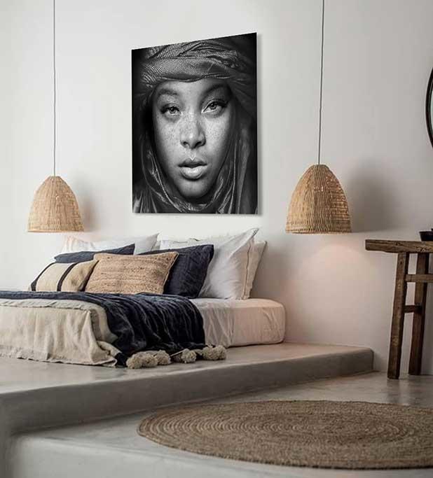 Egyptian girl black and white-4