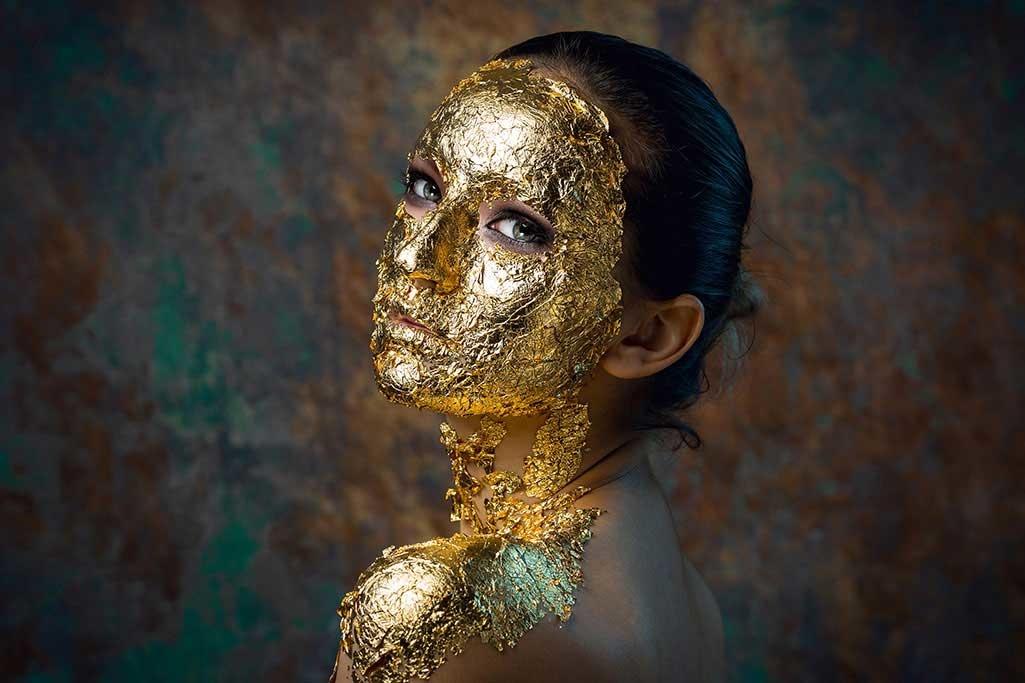 Golden face-1