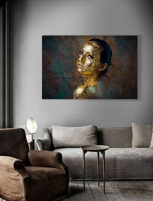 Golden face-2