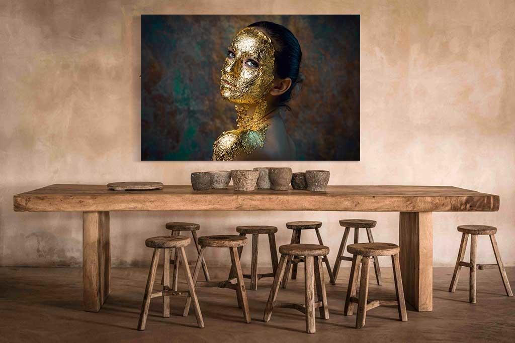 Golden face-3