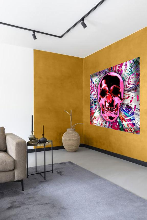 Pink Skull-3