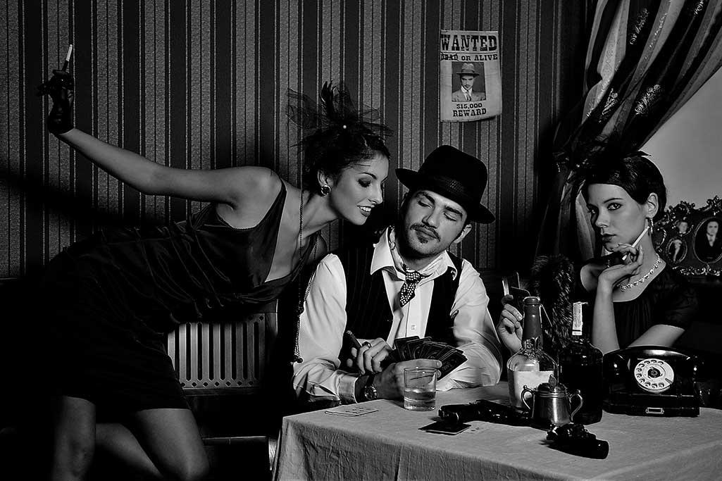Mafia Couple  Black/White-1