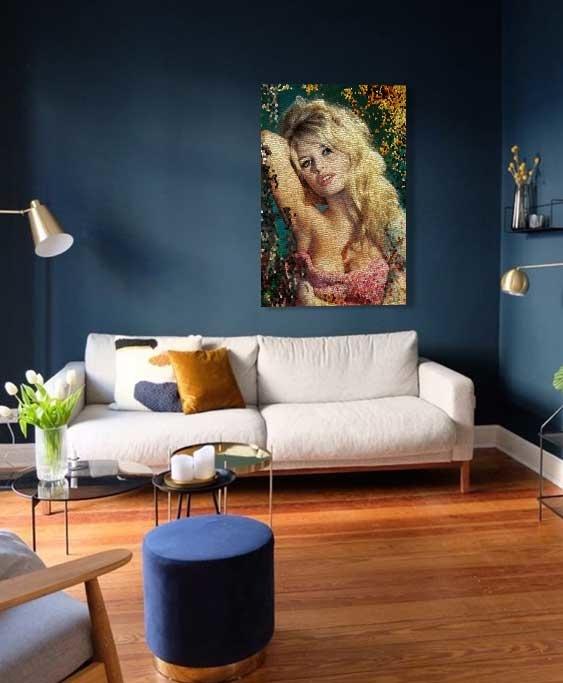 Mosaic Brigitte Bardot-2