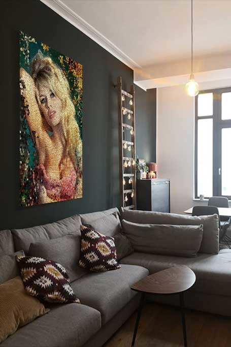 Mosaic Brigitte Bardot-3