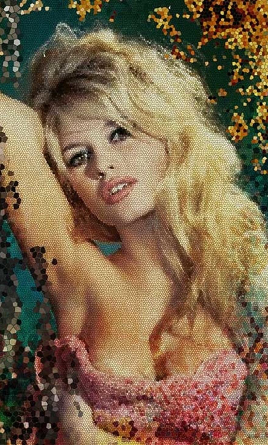 Mosaic Brigitte Bardot