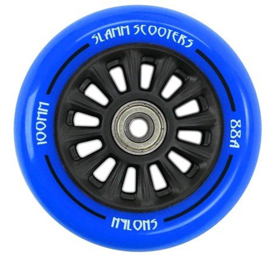 Slamm Scooters stuntstep wiel 100mm blauw