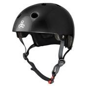 Triple Eight Triple Eight Dual Certified Helm Gloss Zwart