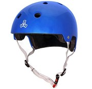 Triple Eight Triple Eight Dual Certified Helm Metallic Blauw
