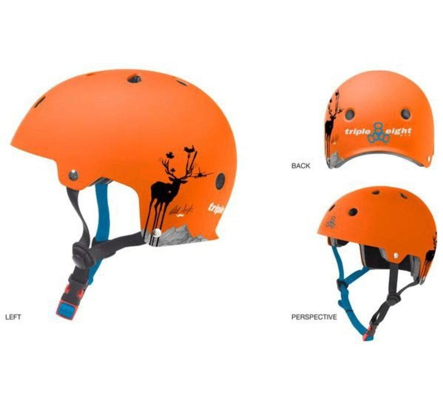 Triple Eight Dual Certified Helm Switzer Oranje