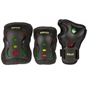 Bullet Safety Gear Bullet skate beschermset Jr. Blast rasta