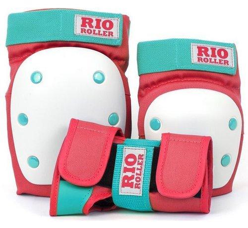 Rio Roller Rio Roller 3-Pack Bescherming Rood-Mint