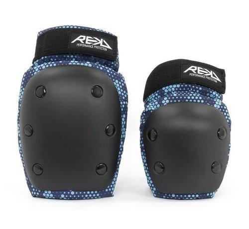REKD Protection REKD Youth Heavy Duty Double Pad Set Zwart-Blauw