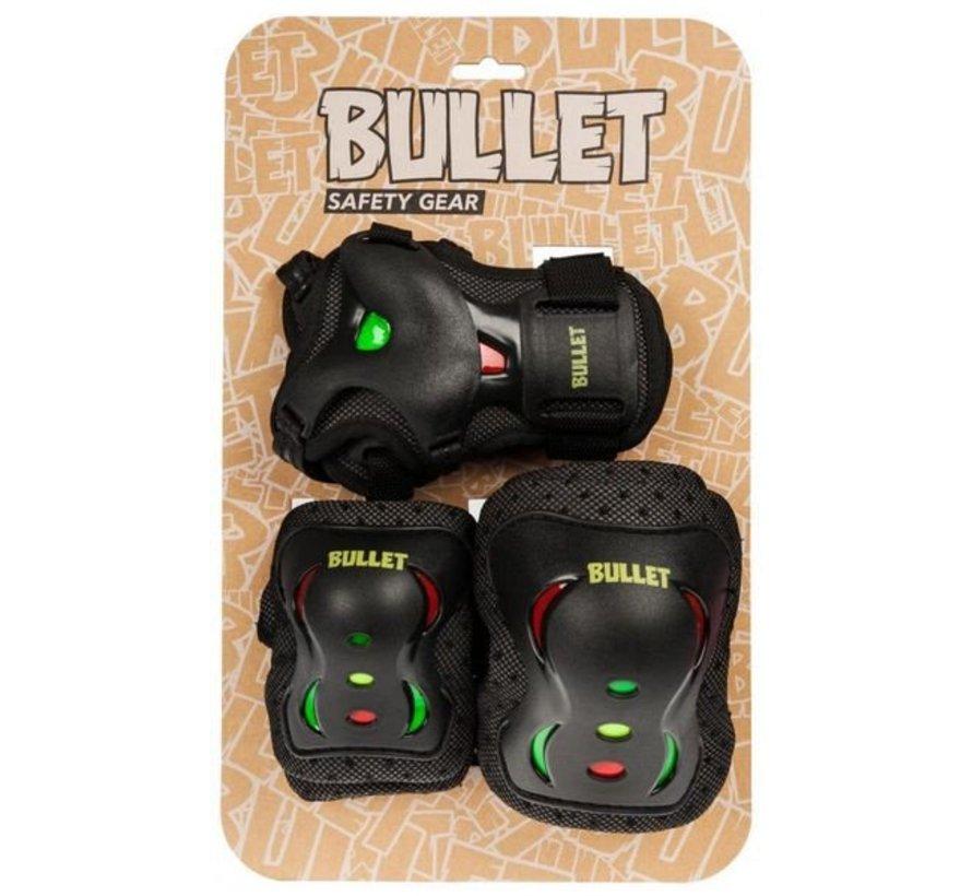 Bullet skate beschermset Jr. Blast rasta