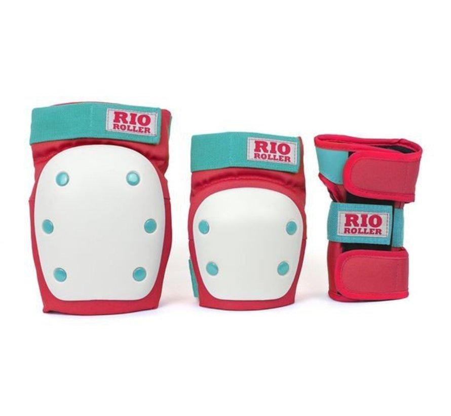 Rio Roller 3-Pack Bescherming Rood-Mint