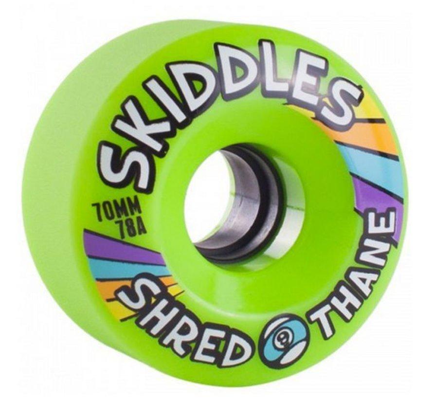 Sector 9 Skiddles 70mm Longboard Wielen Groen