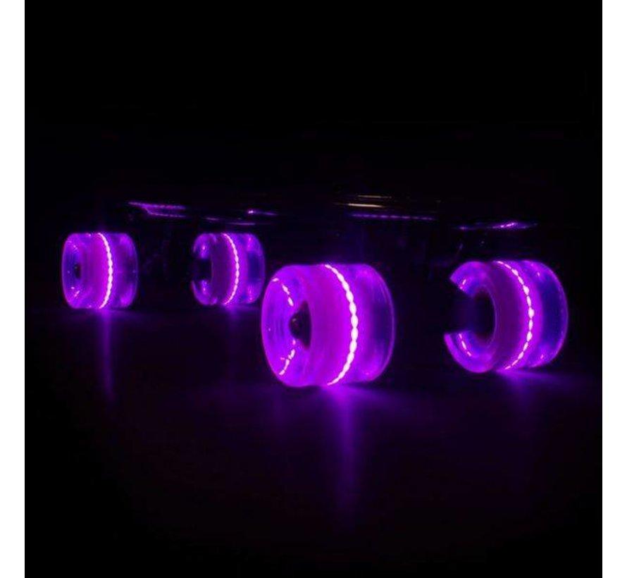 Sunset LED Cruiser Wielen Roze 59mm