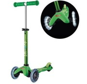 Micro Scooters Micro Mini Deluxe Kinderstep LED Green